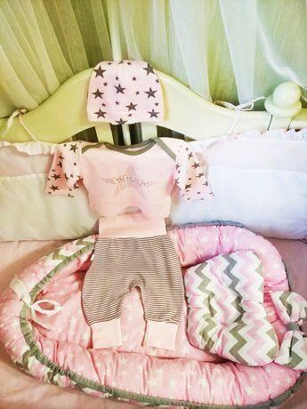 Кокон  позиционер и костюм для новорожденного
