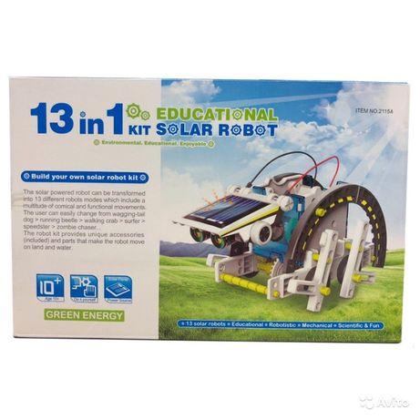 Робот конструктор на солнечной батарее Solar Robot 13 в 1