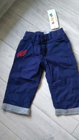 Nowe spodnie wiosenne podszewka 5 10 15 rozm 74