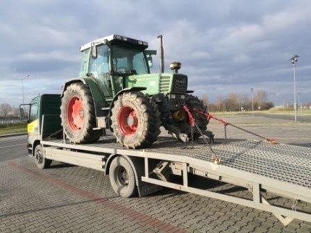 Transport traktora wózka podnośnika  pomoc drogowa laweta do 7 ton