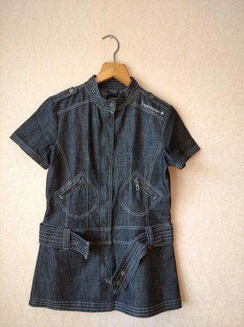 Джинсовое платье -сарафан 48 размер Германия