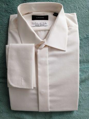 Koszula ślubna z mankietami