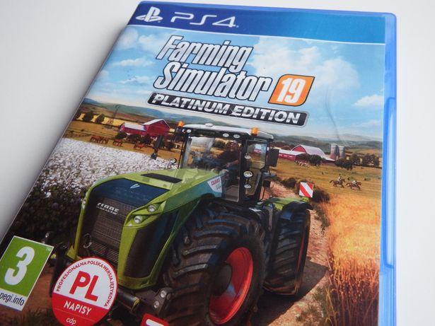 PS4 / PS5 FARMING SIMULATOR 19 Platinum Edition PL ponad 380 pojadów !