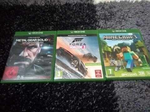 Gry na Xbox One Minecraft,Forza horizon 3, metal gear solid V