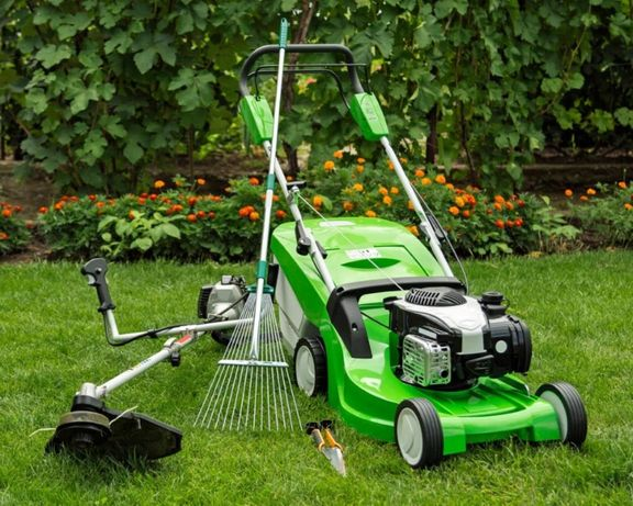 Usługi ogrodnicze, wycinanie i podcinanie drzew, koszenie trawy