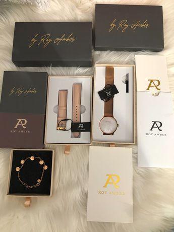 Nowy zegarek z metkami i dodatkowymi akcesoriami