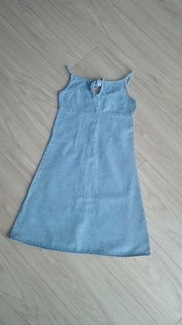 Sukienka jeansowa 122 cm letnia na ramiączkach długa na lato plażowa