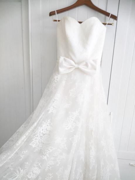BOHO Koronkowa suknia ślubna dlugi rękaw vintage dodatki sukienka
