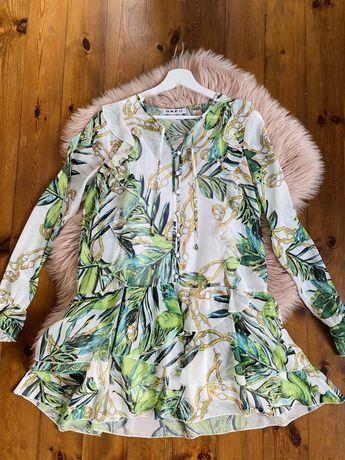 Sukienka liście print lorenzo