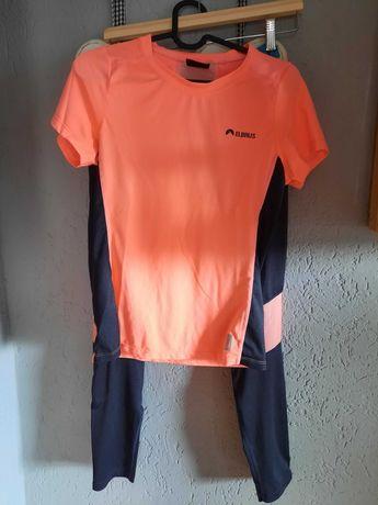 Leginsy i bluzka do biegania