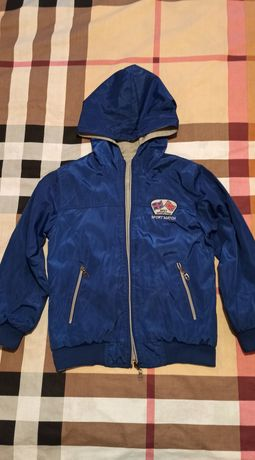 Куртка спортивная двусторонняя 128-134 рост