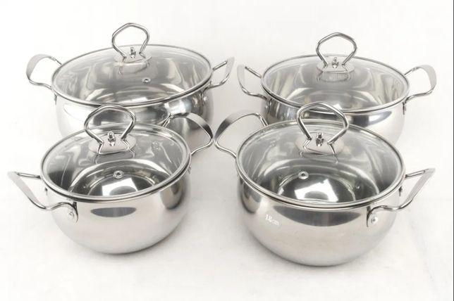 Набор кастрюль aplus из нержавеющей стали посуды с крышками нержавейка