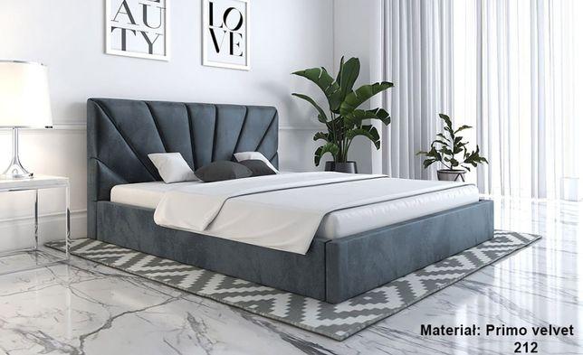 Łóżko tapicerowane 160x200 z pojemnikiem Mino Slim stelażem dwuosobowe