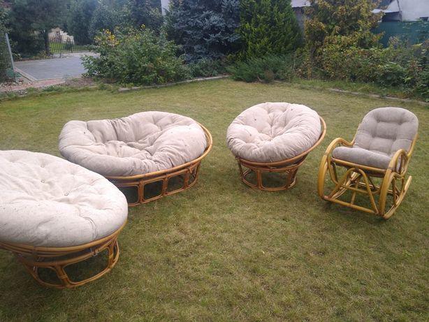 Fotele kanapa ratanowe