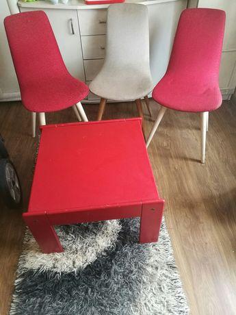 Krzesło stare patyczak tapicerowane prl vintage