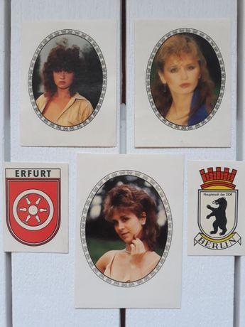 Наклейки ГДР девушки, гербы городов, переводные картинки, наклейки 80