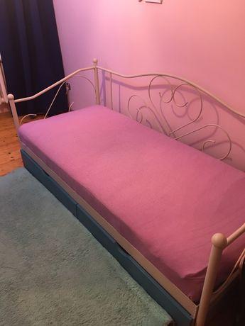 Łóżko 90x200 z materacem i szufladami NOWA CENA