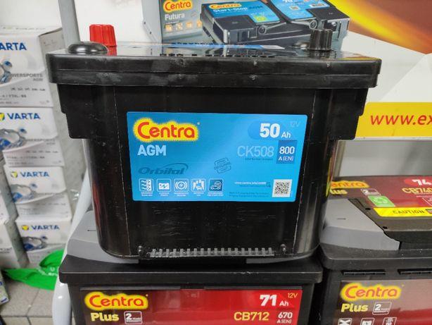 Akumulator Centra Start-Stop AGM CK508 12V 50Ah 800A P+ Kraków EK508
