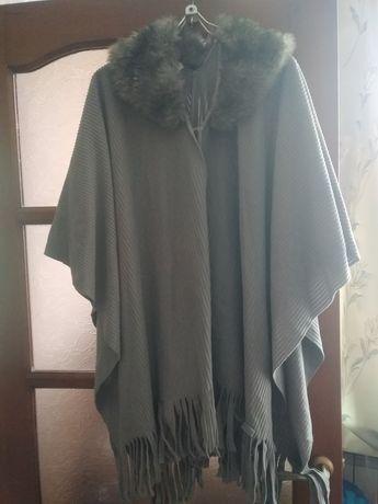 Новая флисовая накидка, шарф, пончо с воротником
