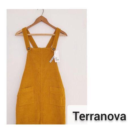 Вельветовый сарафан terranova новый