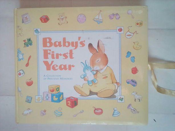 Книга альбом мой первый год ребенок младенец фотоальбом фотки фотосеси