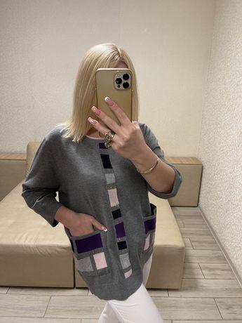 Женская рубашка блузка туника кофта реглан) размер ;60;58;56;54;52;