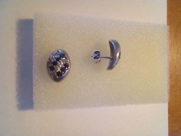Kolczyki srebrne wkręcane