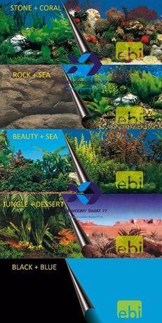 Dwustronne tła do akwarium - różne wymiary
