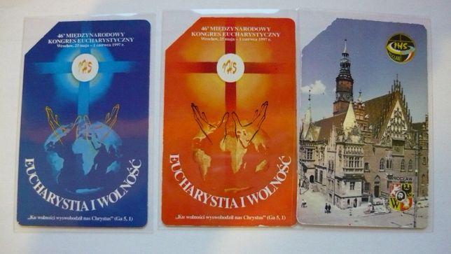 Zestaw 3 kart magnetycznych -46 Kongres Eucharystyczny