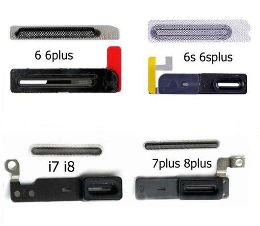 Rede coluna de ouvido anti poeira para iPhone 6 /6+/6S/6S+/7/7+/8/8+