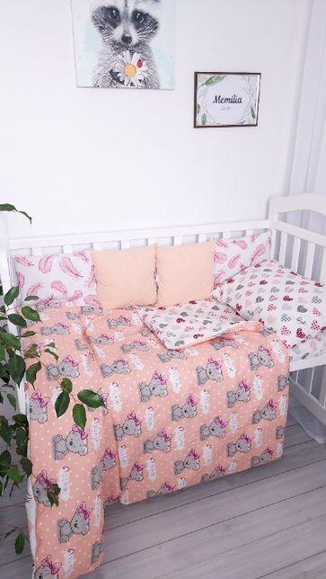 Постельное, детское постельное, бортики, пледы, подушки, пеленки