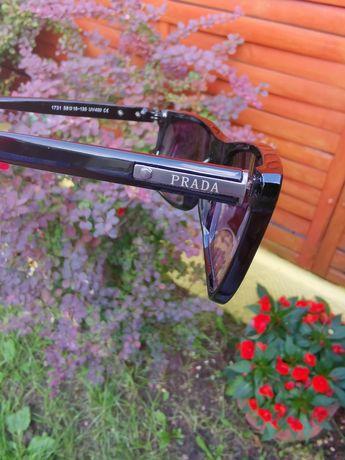 Okulary czarne PRADA przeciwsłoneczne