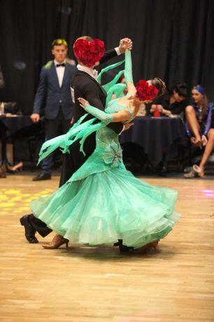 Платье для бальних, спортивных танцев, стандарт для девочки 170-175 см