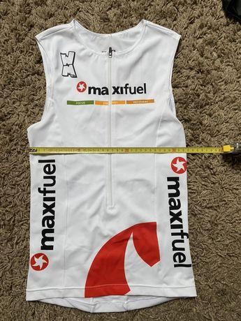Bezrekawnik kolarski stroj kolarski koszulka kolarska triathlon szosa