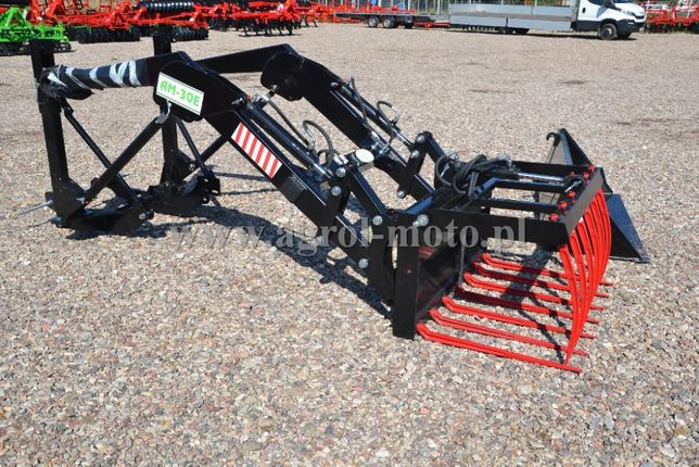 Ładowacz TUR Agro-Max 3-sekcje, euroramka Łyżka, krokodyl C330, C360
