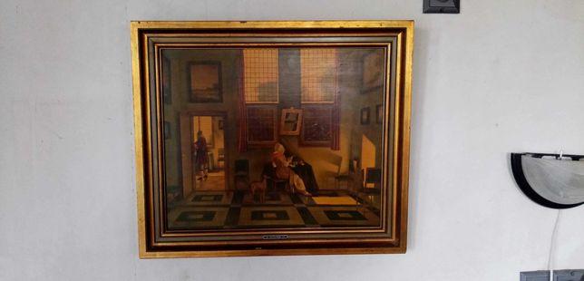 Obraz olejny, reprodukcja na płótnie 59 cm x 50 cm