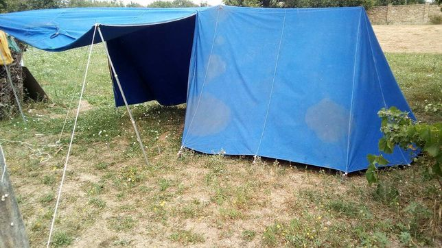 Палатка туристическая брезентовая