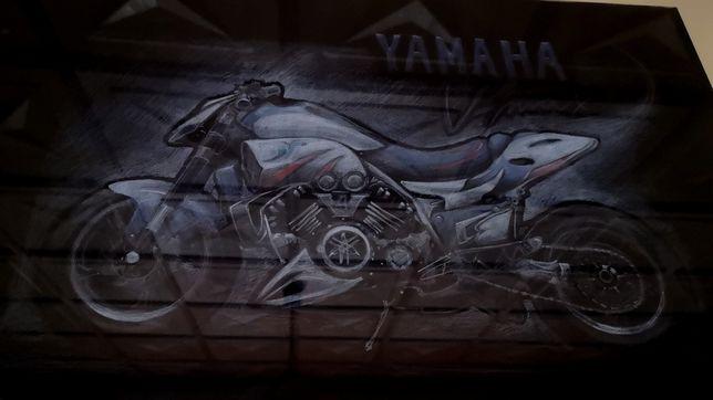 Rysunek, obraz, Yamaha v max