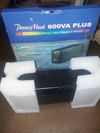 бесперебойник PoverMast 600VA Plus
