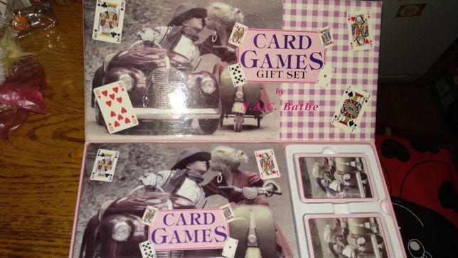 игральные карты 2 колоды правила-набор на английском языке коробка