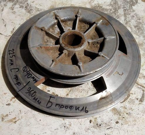 d. 225/360 мм Ц профиль отв40 шкив мото