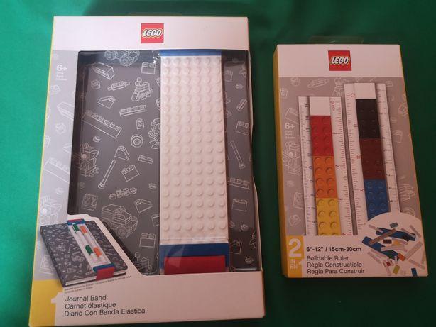 Lego zeszyt Notes notatnik + linijka
