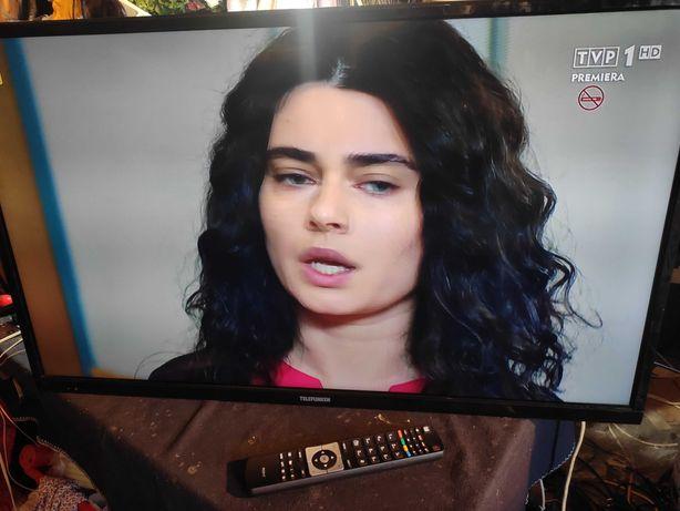"TV LED Telefunken 39"" Full HD, telewizja naziemna, internet, pilot"