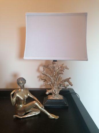 Lampa koralowiec stojąca złoty koral Hamptons 2 sztuki