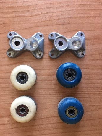 Rodas de skate e base de trucks