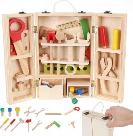 Drewniane narzędzia - skrzynka dla dzieci warsztat