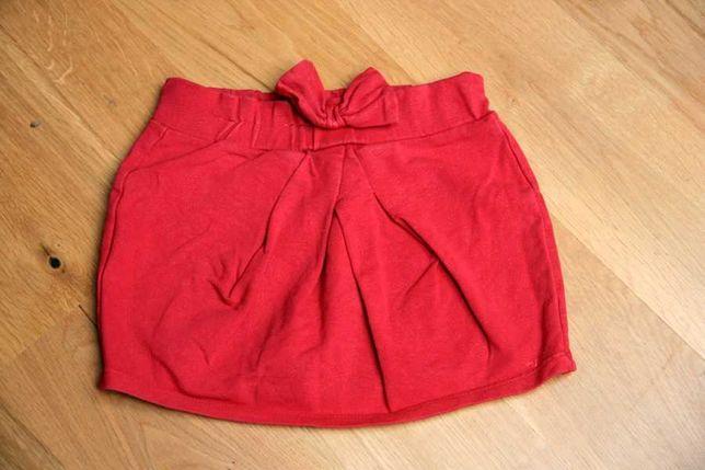 Spódniczka Reserved czerwona z kokardką bawełniana r. 116