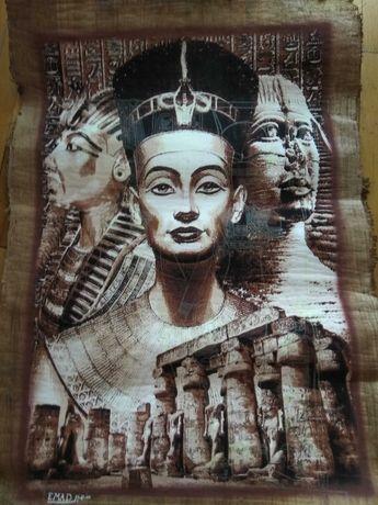 Папирус, египетская картина 92х62 см.  1000 грн