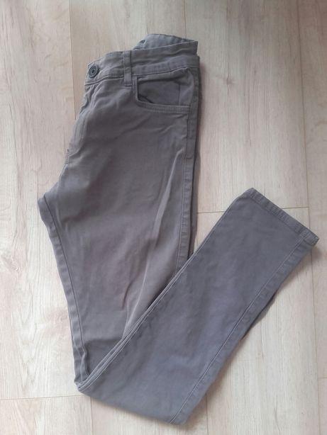 Spodnie rurki Slim fit smog 28 szare New yorker męskie