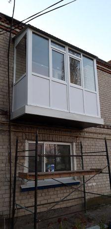 Балкон под ключ, балкон с выносом, окно на балкон, сделать балкон